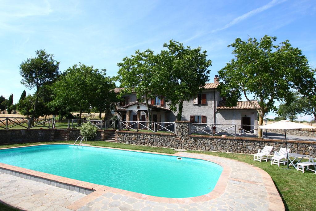 Bagnoregio- Boerderij met zwembad  met wifi te huur