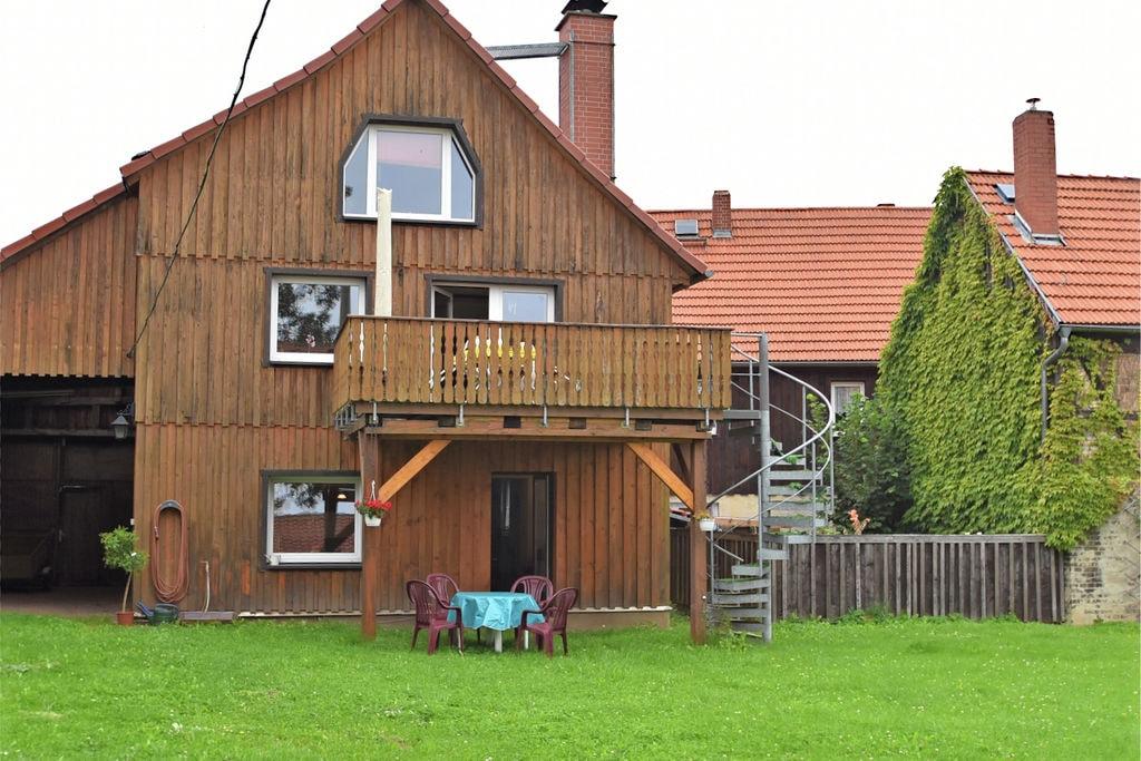 Gezellige parterrewoning in het oosten van de Harz met houtkachel en eigen terras - Boerderijvakanties.nl