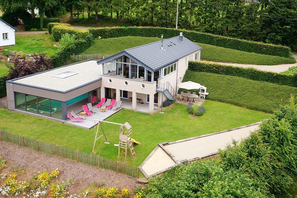 Moderne villa in Malmedy met een privézwembad - Boerderijvakanties.nl