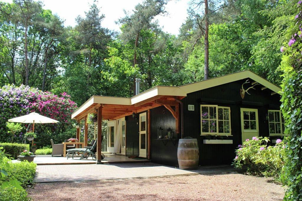 Romantische bosbungalow voor twee met sauna, jacuzzi en diepe tuin - Boerderijvakanties.nl