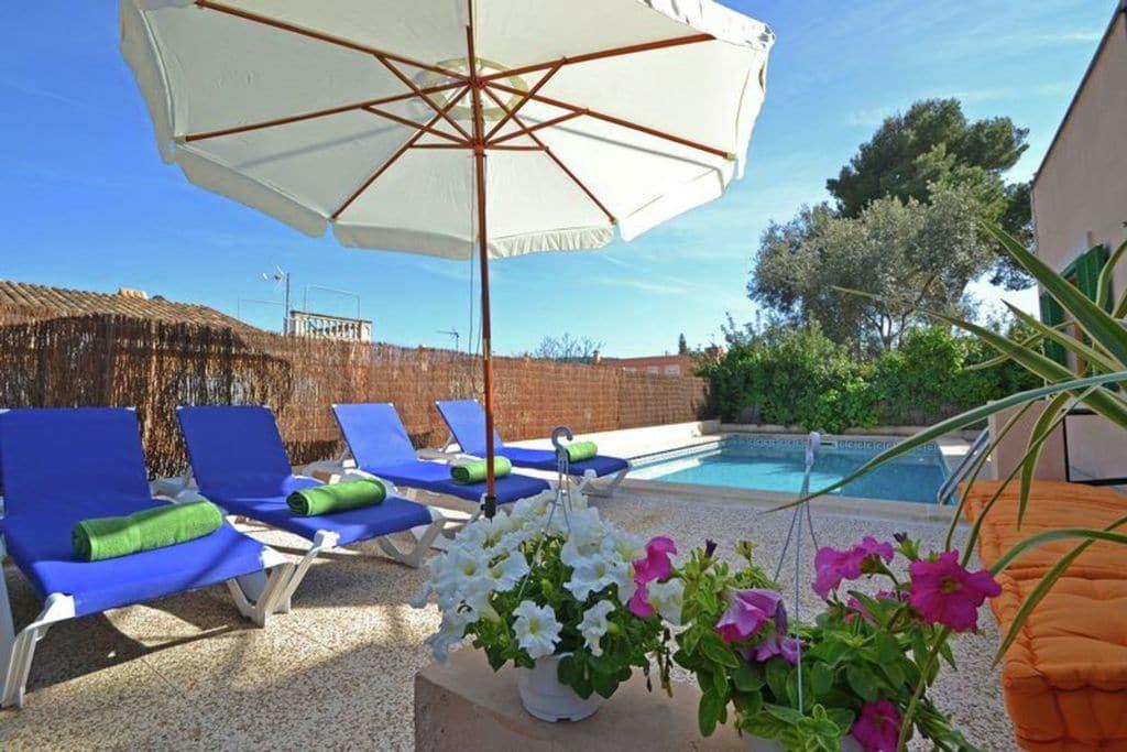 Porto-Adriano- Chalet met zwembad  met wifi te huur