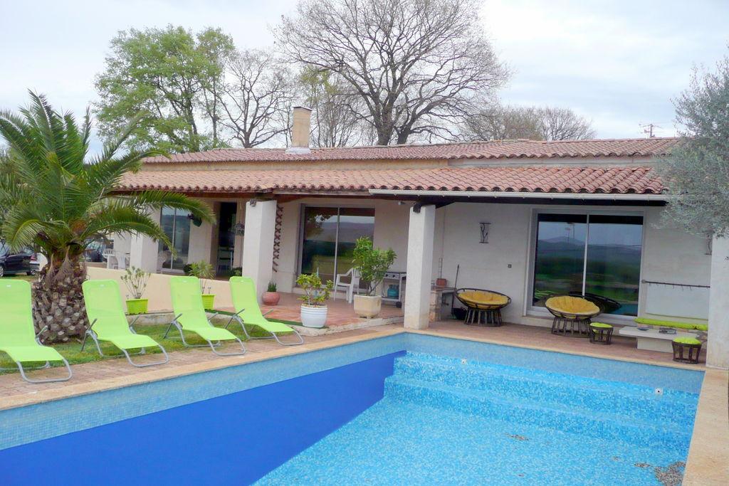Saint-Just-D'ardèche- Vakantiewoning met zwembad   te huur