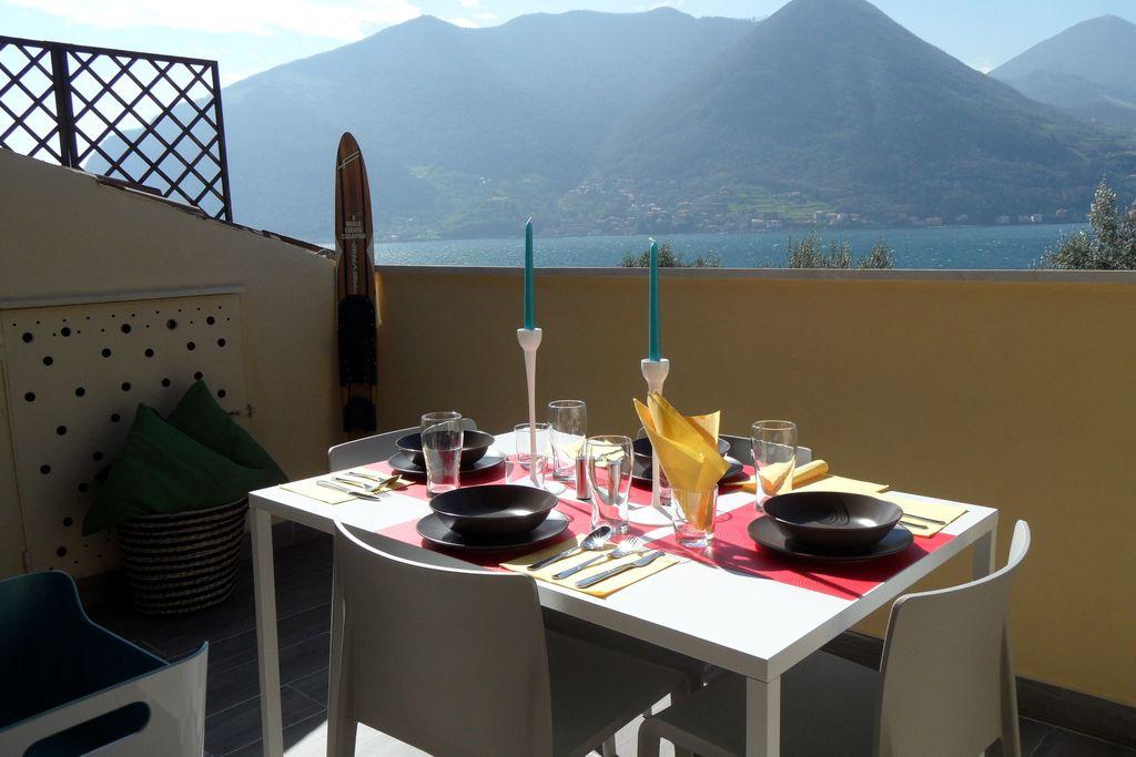 Monte-Isola- Appartement met zwembad  met wifi te huur