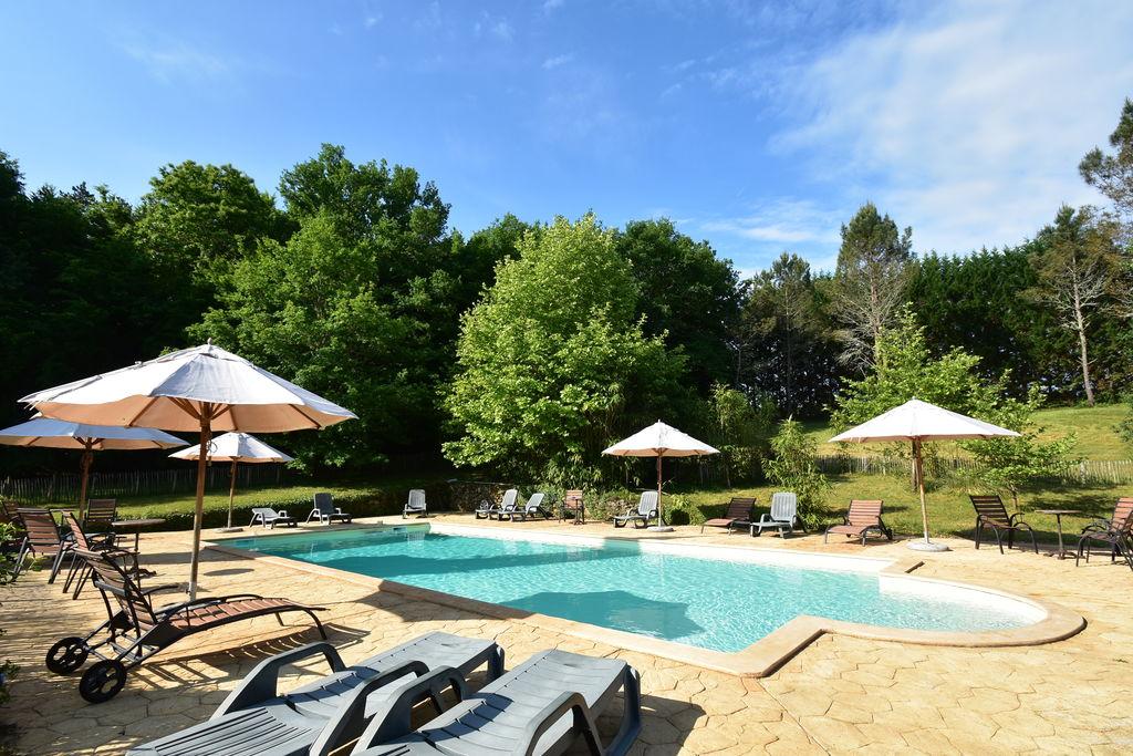Rustiek vakantiehuis in Saint-Cirq-Madelon met zwembad - Boerderijvakanties.nl