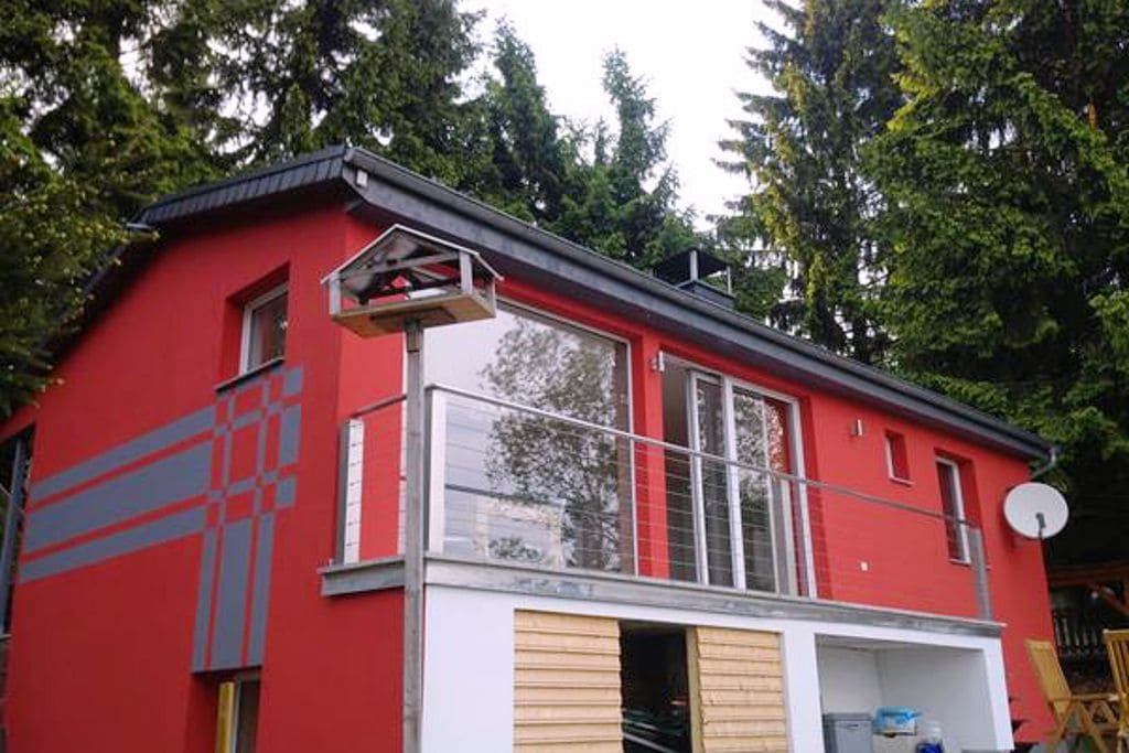 Mooi vakantiehuis in het Thüringer Woud - houtkachel, balkon, terras, tuin - Boerderijvakanties.nl