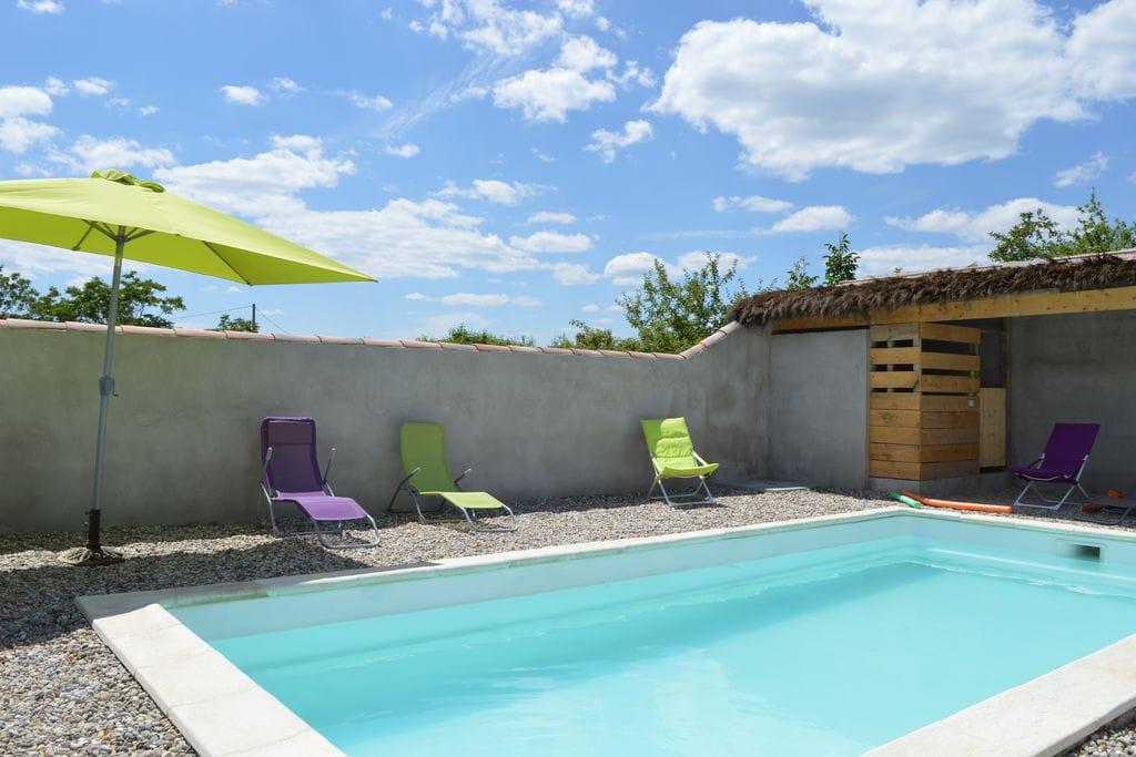 Vakantiewoning huren in Ardeche - met zwembad  met wifi met zwembad voor 4 personen  Modern vakantiehuis met privé zwe..