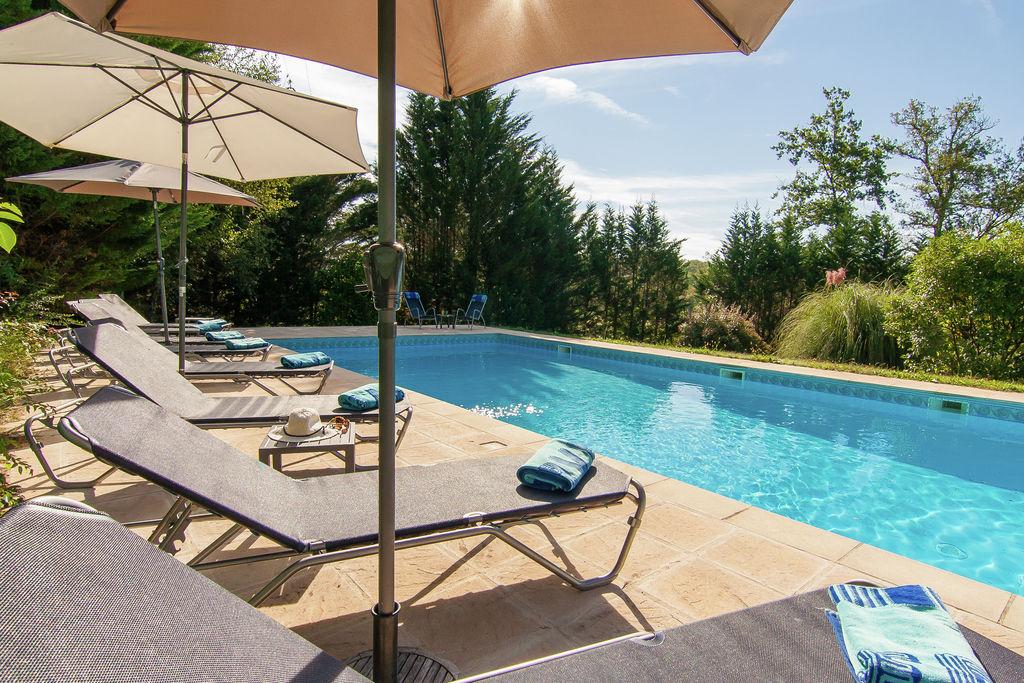 Zeer ruime villa met verwarmd zwembad, verschillende terrassen en veel privacy. - Boerderijvakanties.nl