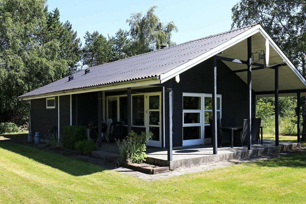 Moderne blokhut in Løgstør met open haard
