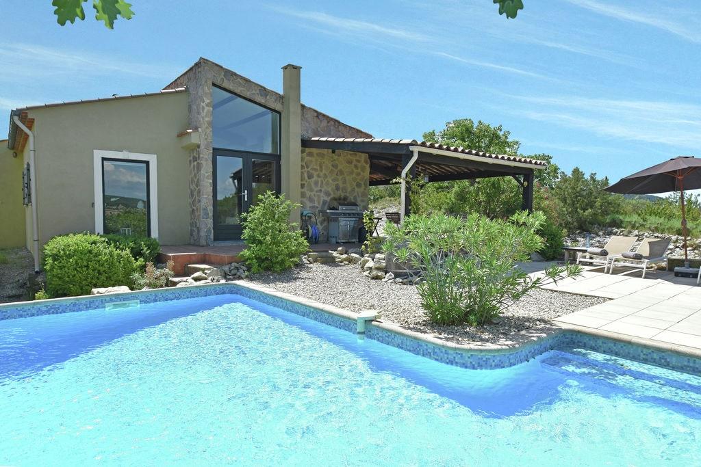 Luxe villa op heuveltop met weids uitzicht, verwarmd privézwembad bij Uzès - Boerderijvakanties.nl