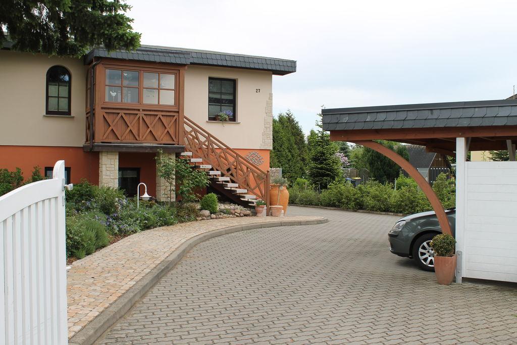 Modern appartement bij de rivier de Warnow met sauna - Boerderijvakanties.nl