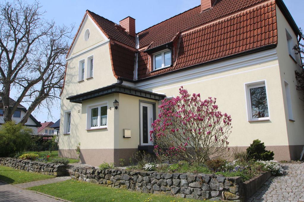 Comfortabel appartement met pelletkachel en gebruik van de tuin in Nordhausen in de Harz. - Boerderijvakanties.nl