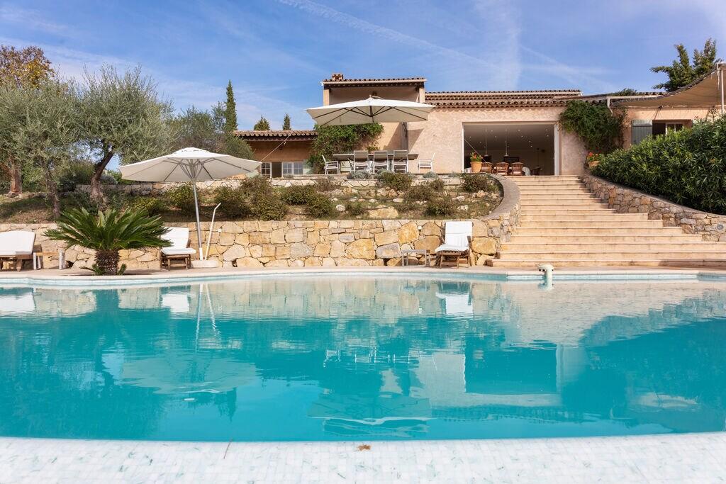 Zuid-Franse airconditioned villa met verwarmd zwembad en panoramisch uitzicht - Boerderijvakanties.nl