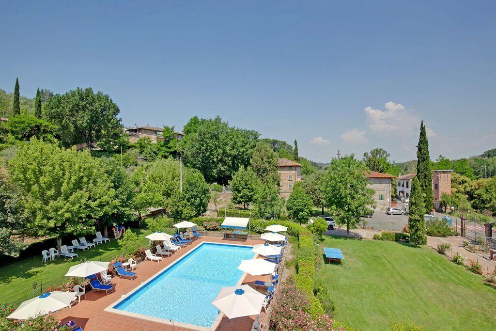 Landelijk appartement in Montaione met een gedeeld zwembad - Boerderijvakanties.nl
