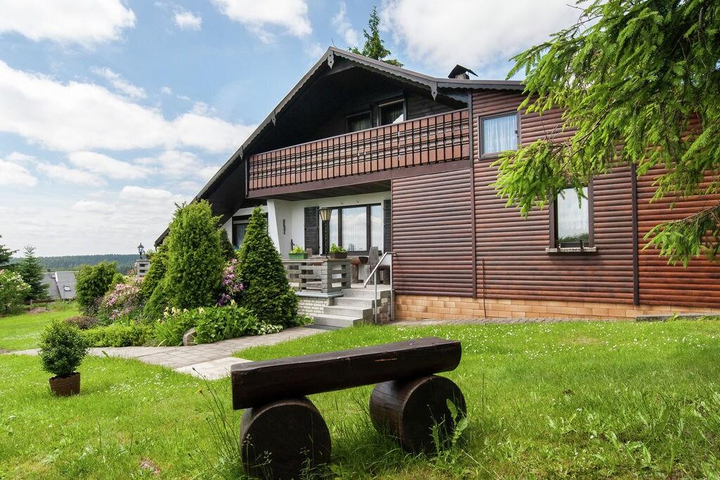 Grote vakantiewoning met eigen sauna midden in het Thüringer Woud - Boerderijvakanties.nl