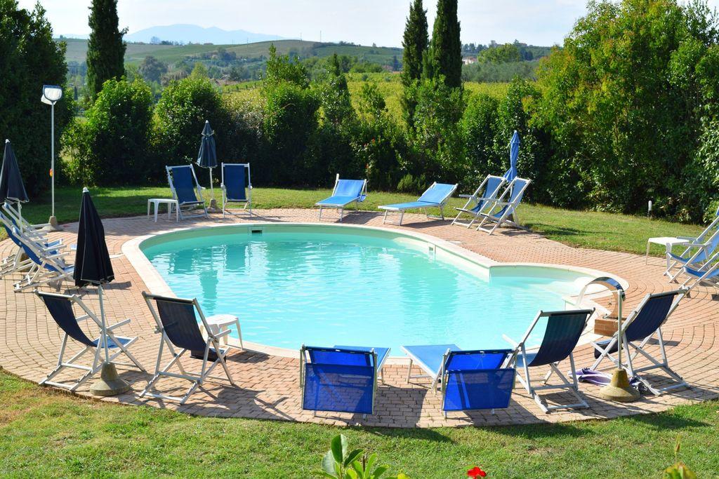 Toscaans appartement in Vinci met een zwembad - Boerderijvakanties.nl