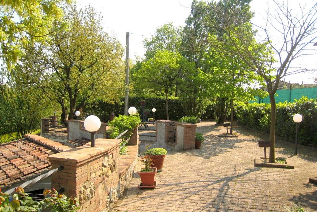 Mooie vrijstaande villa in de provincie Siena met boomgaard met notenbomen - Boerderijvakanties.nl