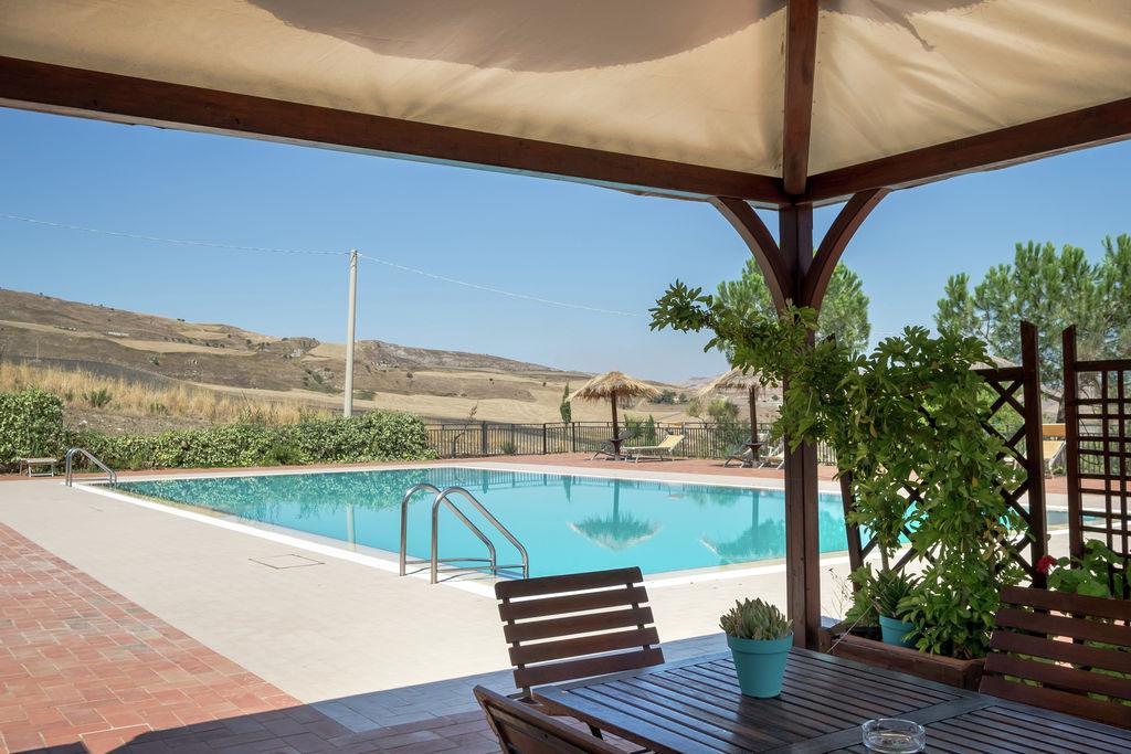 Landelijk vakantiehuis in Resuttano met zwembad en sauna - Boerderijvakanties.nl