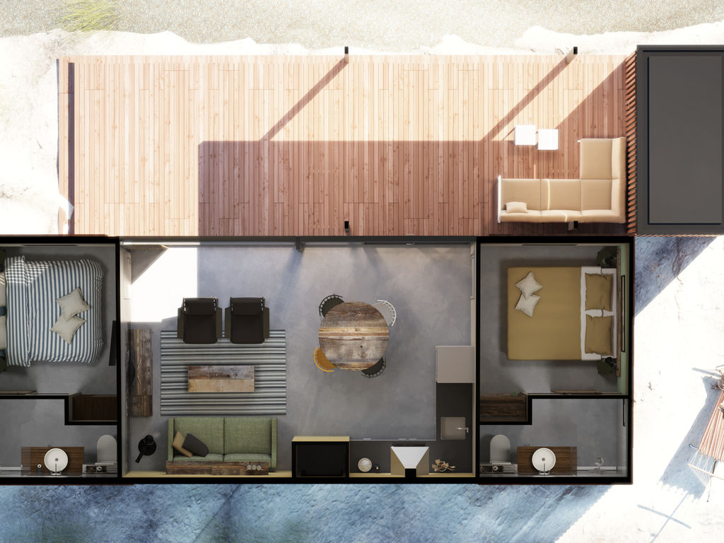 Ferienhaus Komf. Lodge mit zwei Badezimmern, 900 m vom Strand entf. (2284194), Hollum, Ameland, Friesland (NL), Niederlande, Bild 12