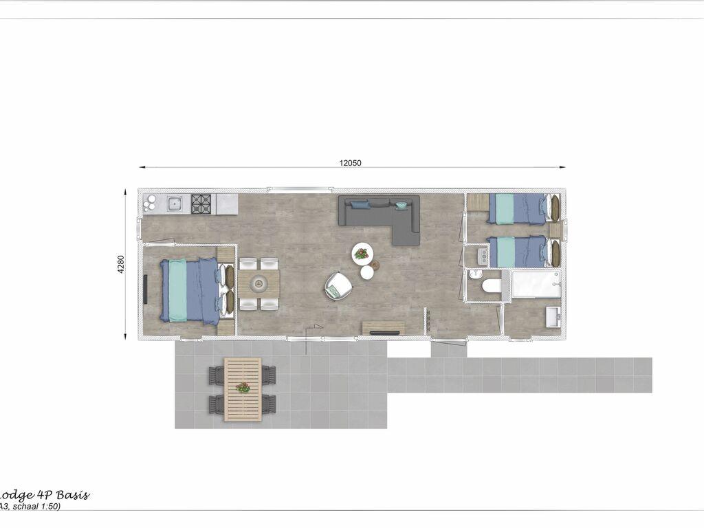 Ferienhaus Moderne Lodge mit Kombi-Mikrowelle, 500 m vom Strand entfernt. (2780002), Nieuwvliet, , Seeland, Niederlande, Bild 2