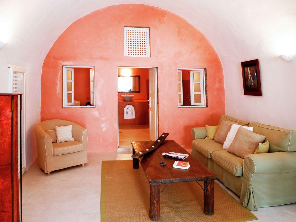 Ferienhaus Luxuriöse Villa mit Whirlpool in Megalochori Santorini (365026), Thira, Santorini, Kykladen, Griechenland, Bild 6