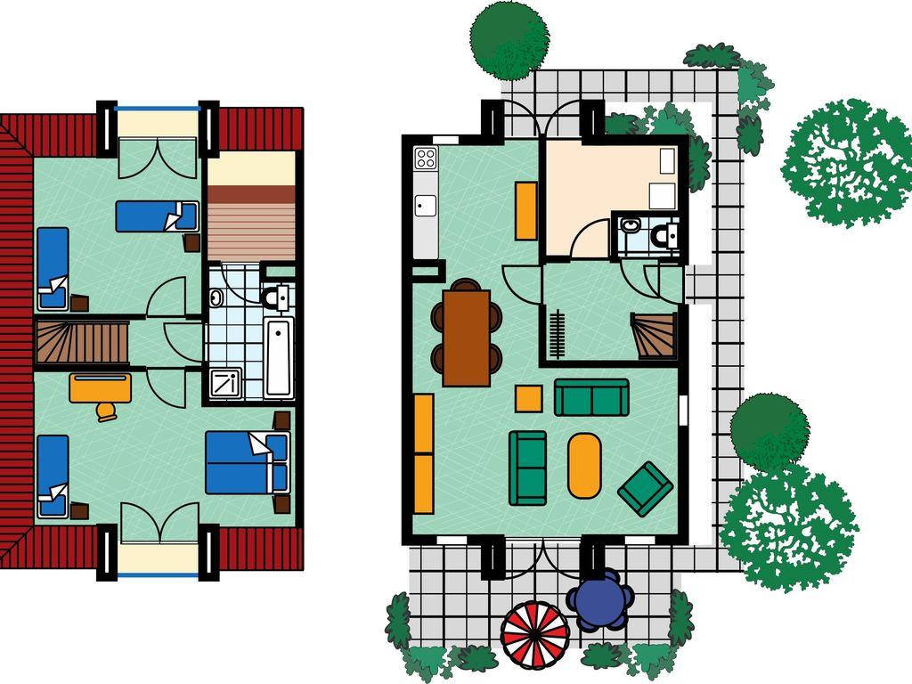 Ferienhaus Stilvolle Doppelhaus-Villa mit Garten, 1 km vom Strand entf. (411380), Stroodorp, , Seeland, Niederlande, Bild 8