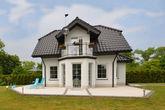 A luxury villa in a seaside village