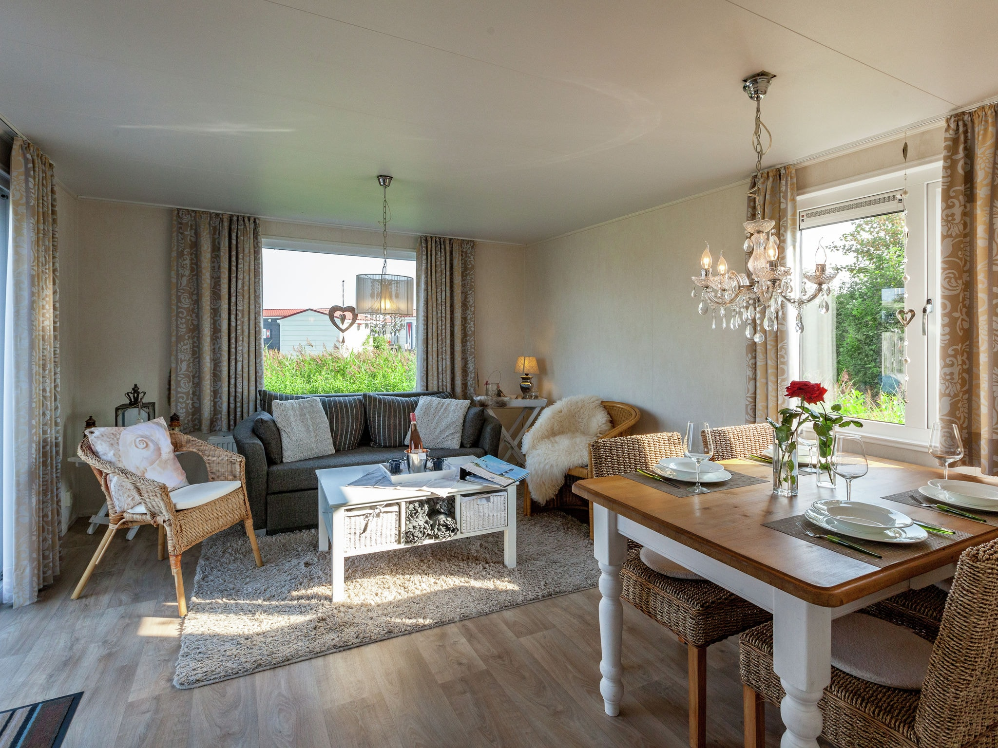 Holland | Zeeland | Holiday home Chalet Olm | all year | LivingRoom