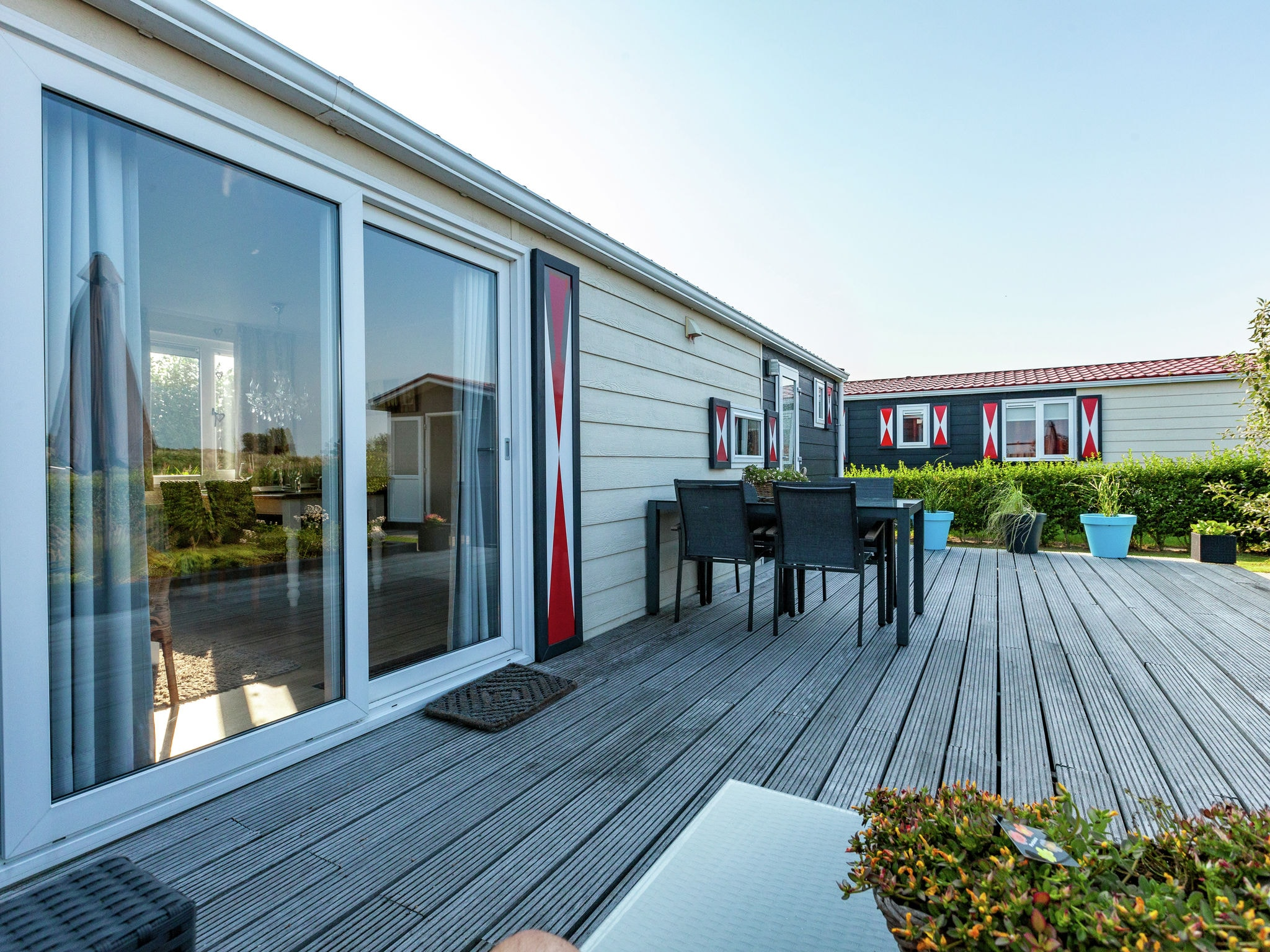 Holland | Zeeland | Holiday home Chalet Olm | all year | TerraceBalcony