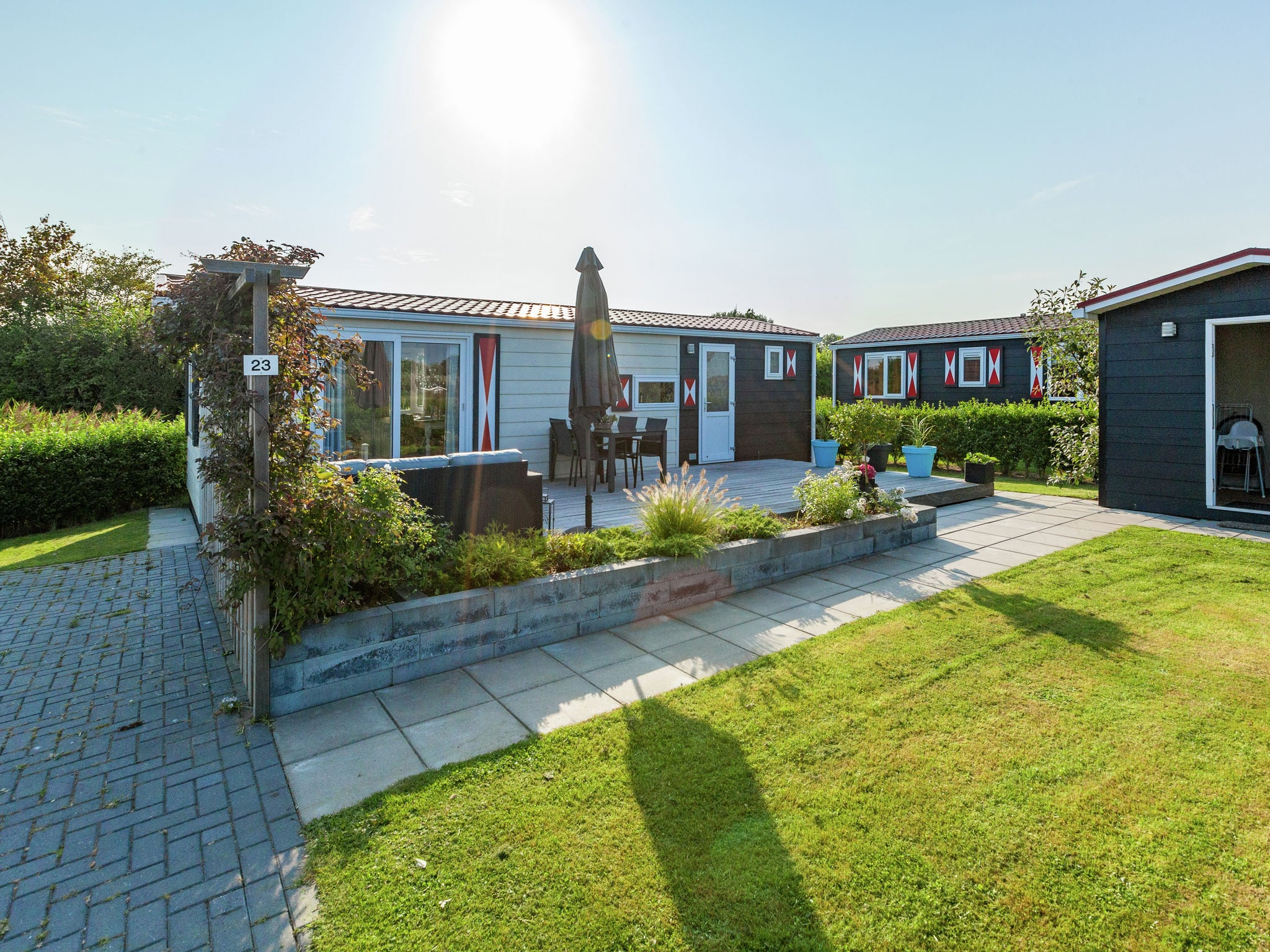 Holland | Zeeland | Holiday home Chalet Olm | all year | ExteriorSummer