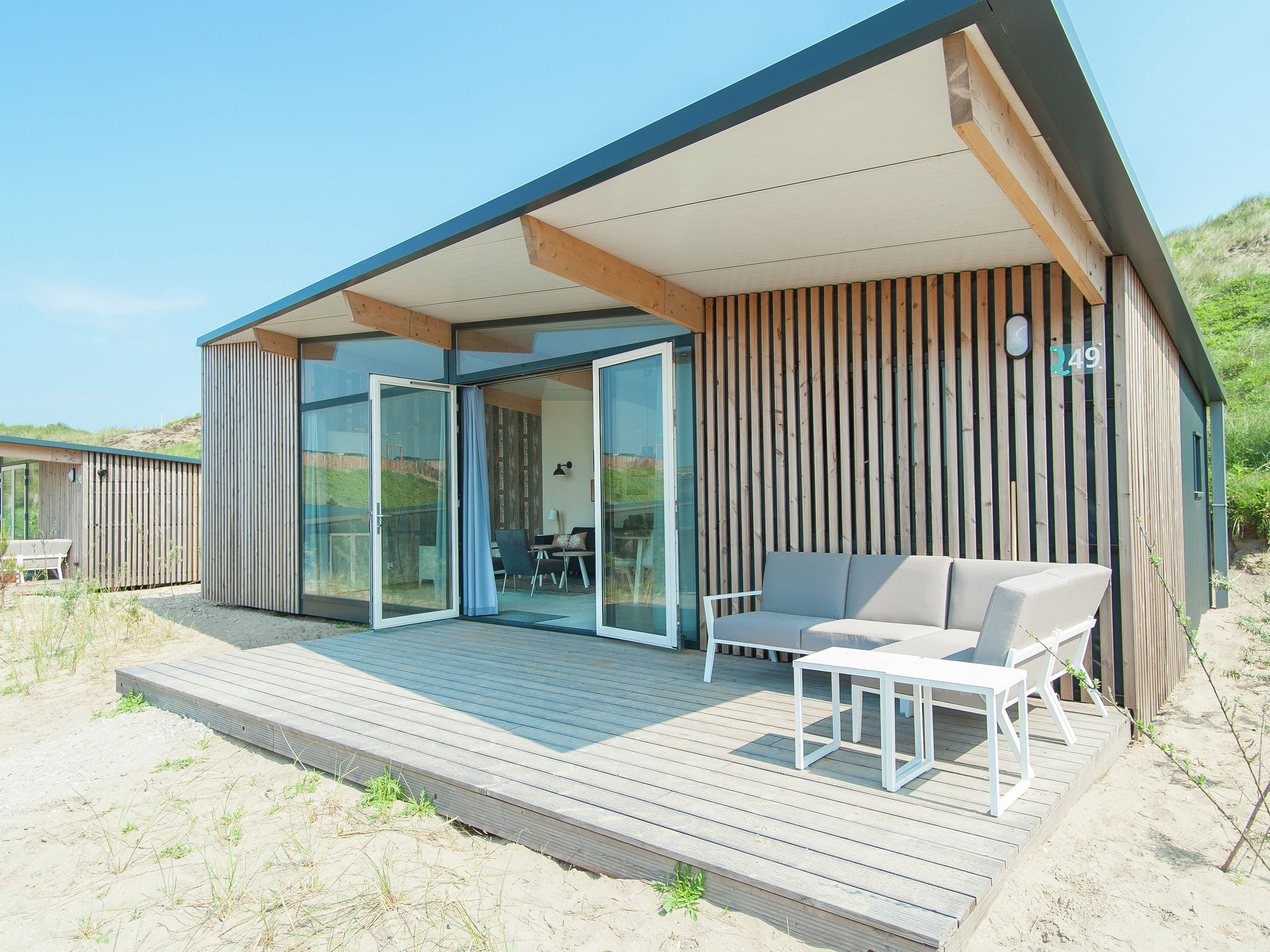 Holland | North Sea Coast North | Holiday home Sea Lodge Deluxe met de hond | all year | ExteriorSummer