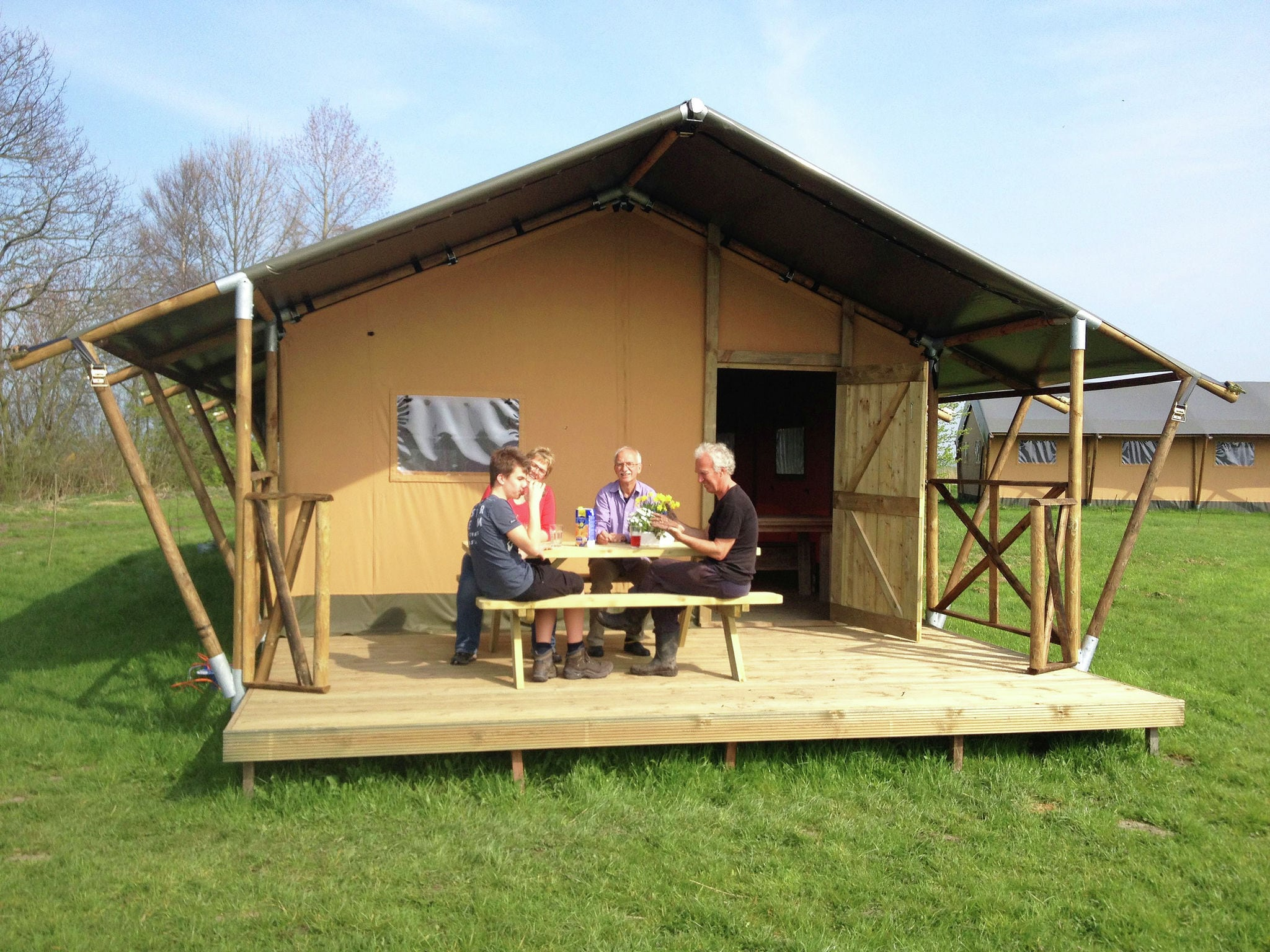 Holland | Groningen | Holiday home Groninger Lodge I | all year | TerraceBalcony