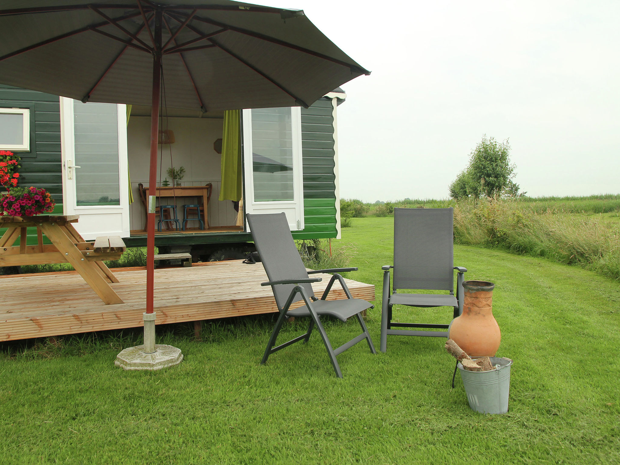 Holland | Groningen | Holiday home Pipowagen Groningen | all year | TerraceBalcony