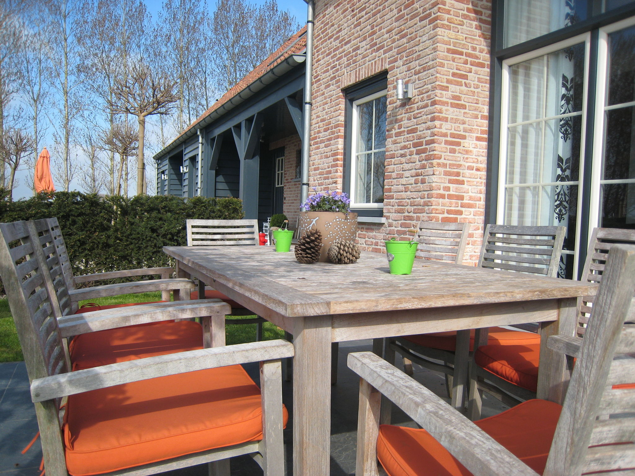 Holland | Zeeland | Holiday home Hof 't Suytsant Conference | all year | TerraceBalcony