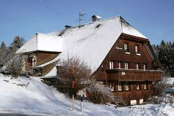 Buiten winter Schwarzwaldhaus Pferdeklause