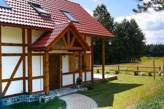 Country house at the lake in Kashubia