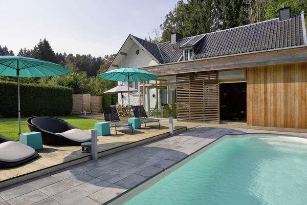 Ferienwohnungen/Ferienhäuser: All-in Preis, Luxe Villa mit Pool eine kurze Strecke von Spa (max. 6 Personen)