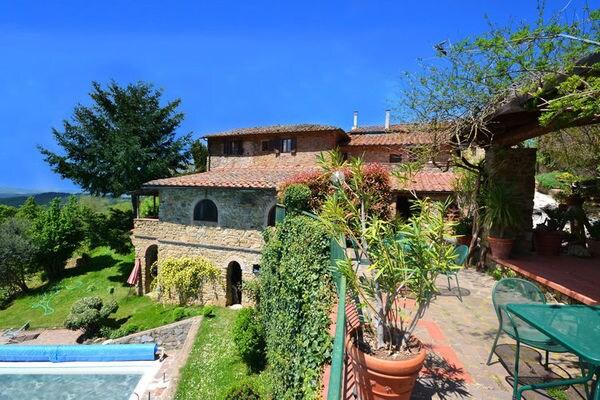 Vakantie accommodatie Gaiole in Chianti Toscane,Siena en omgeving 4 personen