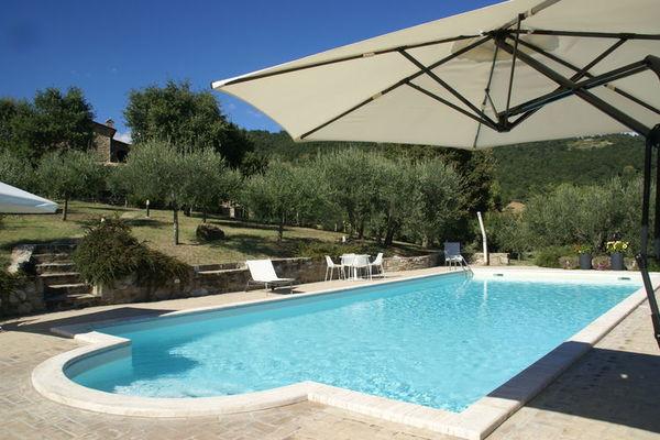 Vakantie accommodatie Umbertide Umbrië 9 personen