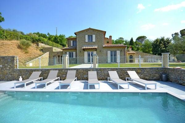 Vakantie accommodatie Cortona Toscane 8 personen