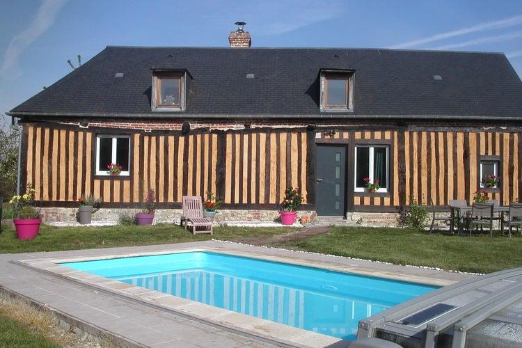 Frankrijk | Normandie | Vakantiehuis te huur in Courtonne-Les-2-Eglises met zwembad  met wifi 7 personen