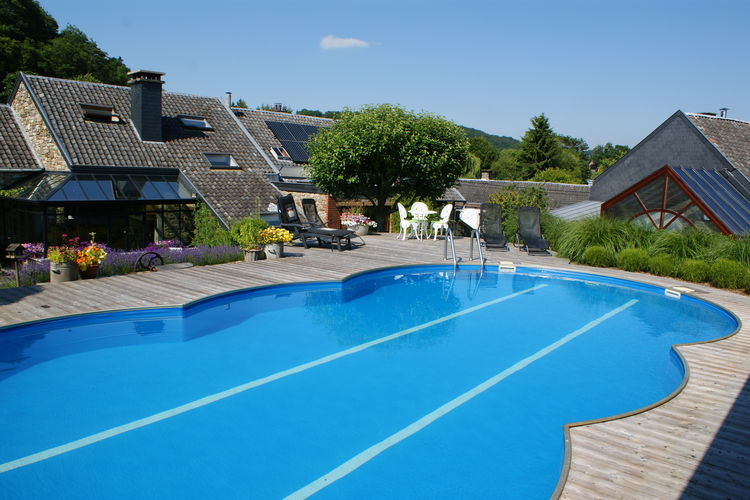 Belgie | Luik | Vakantiehuis te huur in Theux met zwembad  met wifi 9 personen