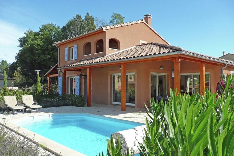 Vallon-Pont-Darc Vakantiewoningen te huur Moderne, luxe villa met met zwembad in het pittoreske dorpje Vallon Pont d