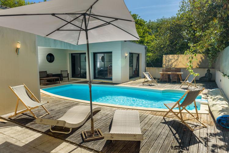 Bretagne Villas te huur Mooie Bretonse villa met privézwembad en grote tuin, op 6 km afstand van de kust