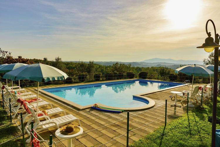 Vakantiehuizen Italie | Umbrie | Boerderij te huur in Citta-Della-Pieve met zwembad  met wifi 5 personen