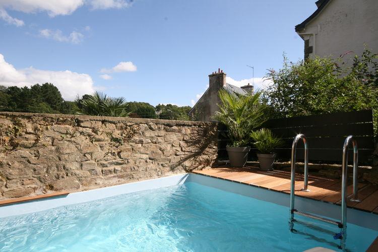 Vakantiehuizen Frankrijk | Bretagne | Villa te huur in Pont-Aven met zwembad  met wifi 6 personen