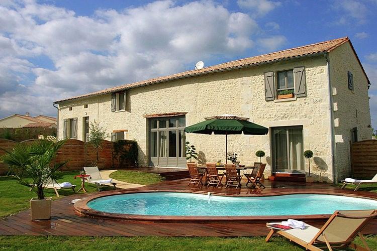 Vakantiehuizen Frankrijk | Cote-Atlantique | Vakantiehuis te huur in Chalais met zwembad  met wifi 8 personen
