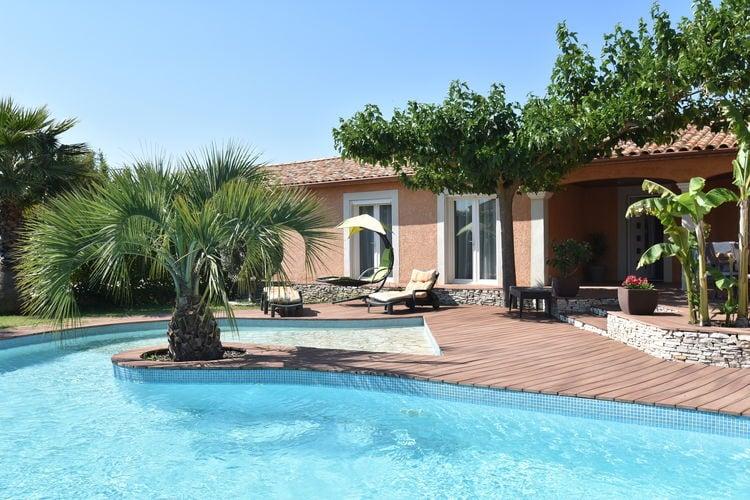 Vakantiehuizen Frankrijk | Languedoc-roussillon | Villa te huur in Nimes met zwembad  met wifi 6 personen
