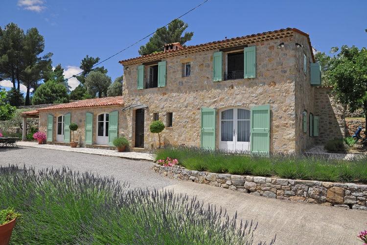 Fayence Vakantiewoningen te huur Provencaalse airconditioned villa met privé zwembad en schitterend uitzicht