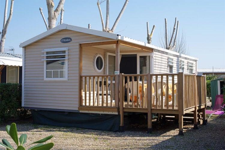 Languedoc-Roussillon Bungalows te huur Luxe mobilhome op een kleine gemoedelijke camping, op loopafstand van het strand