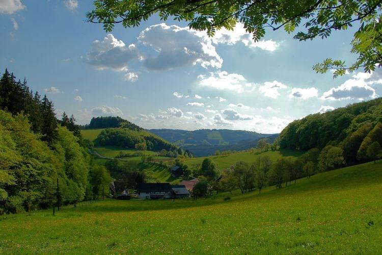 Bad Berleburg Vakantiewoningen te huur Romantisch appartement met een geweldig uitzicht over de prachtige omgeving